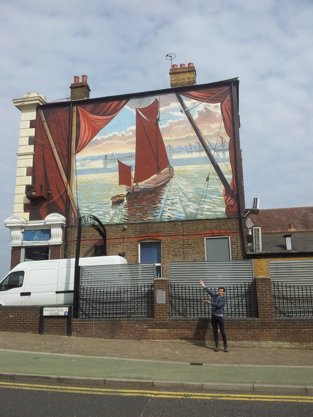 Thames barge mural