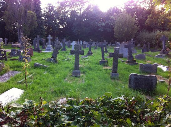 Late afternoon churchyard ambience